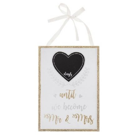 Wedded Bliss Countdown Plaque